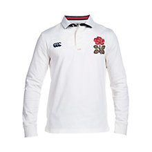 Buy Canterbury of New Zealand England 1871 Long Sleeve Rugby Shirt, Vintage White Online at johnlewis.com