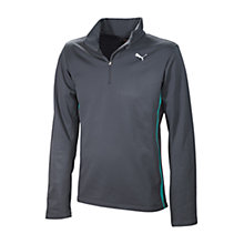 Buy Puma Brush Long Sleeve Running Top, Grey Online at johnlewis.com
