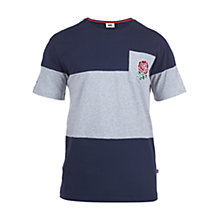 Buy Canterbury of New Zealand England Rugby Stripe T-Shirt, Navy Blue/Classic Marl Online at johnlewis.com