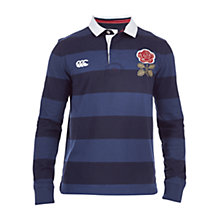 Buy Canterbury of New Zealand England Long Sleeve Rugby Shirt, Deep Sea Navy Online at johnlewis.com