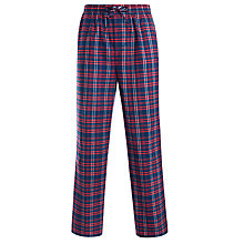 Buy BOSS Brushed Cotton Check Lounge Pants, Red Online at johnlewis.com
