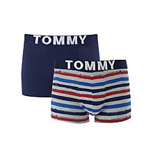 Buy Tommy Hilfiger Bala Stripe Trunks, Pack of 2, Multi Online at johnlewis.com