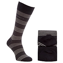 Buy BOSS Striped Cotton Mix Socks, Pack of 2 Online at johnlewis.com