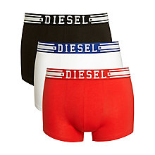 Buy Diesel Shawn Boxer Trunks, Pack of 3, Red/White/Black Online at johnlewis.com