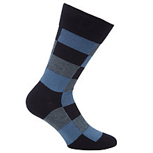 Buy BOSS RS Design Check Socks, Black Online at johnlewis.com