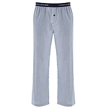 Buy Tommy Hilfiger Arner Woven Stripe Print Lounge Pants, Navy/White Online at johnlewis.com