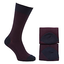 Buy John Lewis Wool Mix Herringbone Socks, Pack of 2 Online at johnlewis.com