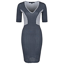 Buy French Connection Mini Modern Mosaic Jersey Dress, Utility Blue/Multi Online at johnlewis.com