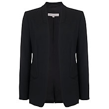 Buy French Connection Whisper Ruth Open Front Jacket, Black Online at johnlewis.com