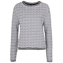Buy French Connection Bobble Knit Jumper, Winter White/Black Online at johnlewis.com