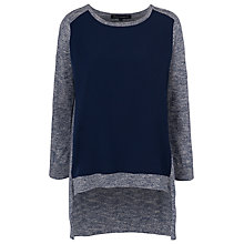 Buy French Connection Odette Knitted Long Sleeve Jumper, Blue Melange Online at johnlewis.com