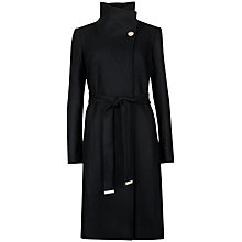 Buy Ted Baker Belted Wrap Coat, Black Online at johnlewis.com