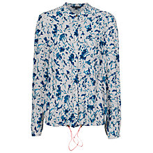 Buy French Connection Porcelain Sheen Shirt, Winter White Multi Online at johnlewis.com
