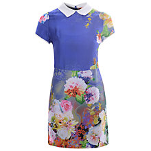 Buy True Decadence Tropical Floral Shift Dress, Blue Tropical Online at johnlewis.com