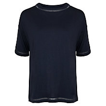 Buy French Connection Mischa Plain Short Sleeved Top, Utility Blue Online at johnlewis.com