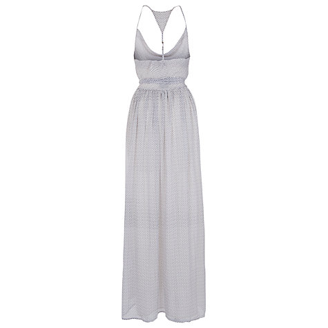 Buy French Connection Reneta Maxi Dress, Winter White/Utility Blue Online at johnlewis.com