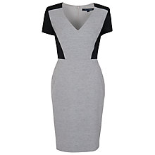 Buy French Connection Sonia Suiting Short Sleeved Dress, Grey Online at johnlewis.com