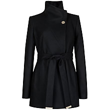 Buy Ted Baker Short Belted Wrap Coat, Black Online at johnlewis.com