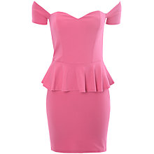 Buy True Decadence Bardot Peplum Dress, Pink Online at johnlewis.com