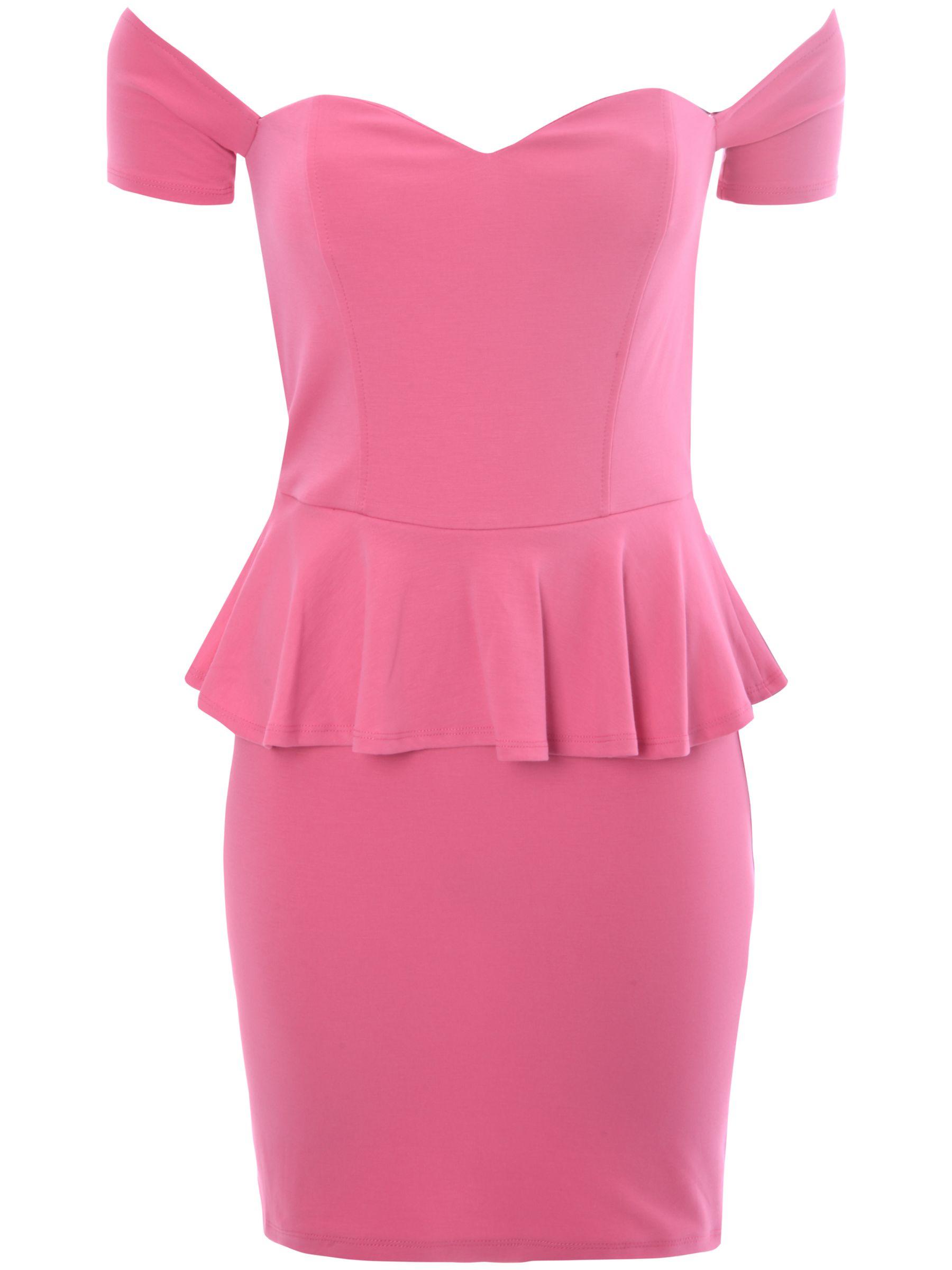 true decadence bardot peplum dress pink, true, decadence, bardot, peplum, dress, pink, true decadence, 10 18 14 16 12 8, clearance, womenswear offers, womens dresses offers, women, womens dresses, special offers, 1587334