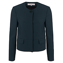 Buy French Connection Whisper Ruth Boxy Jacket, Pine Online at johnlewis.com