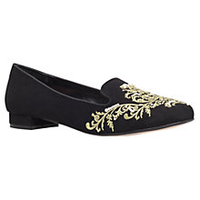 Buy Carvela Like Embroidered Loafers, Black Online at johnlewis.com