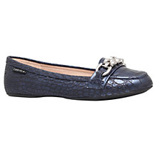 Buy Carvela Liberate Chain Detail Loafers, Blue Online at johnlewis.com