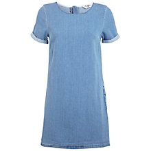 Buy Miss Selfridge Denim T-Shirt Dress, Mid Wash Online at johnlewis.com