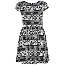 Buy Closet Floral Cross Tie Front Dress, Black/White Online at johnlewis.com