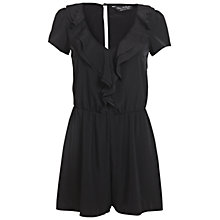 Buy Miss Selfridge Frill Detail Playsuit, Black Online at johnlewis.com