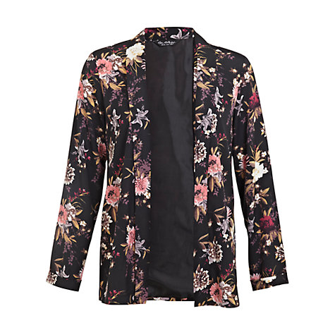 Buy Miss Selfridge Dark Floral Print Kimono, Multi Online at johnlewis.com