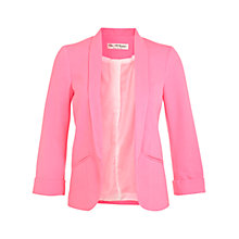 Buy Miss Selfridge Neon Ponti Blazer, Pink Online at johnlewis.com