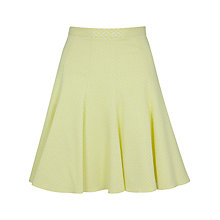 Buy Closet Flare Panel Waffle Skirt, Yellow Online at johnlewis.com