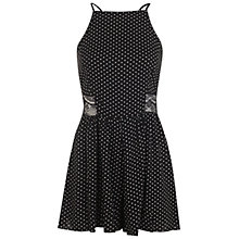 Buy Miss Selfridge Spotty Halterneck Playsuit, Black Online at johnlewis.com