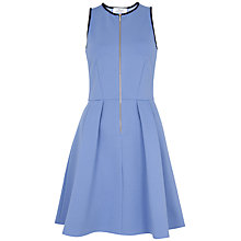 Buy Closet Zip Front Ponte Dress, Blue Online at johnlewis.com