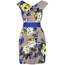 Buy Closet Floral Contrast Waist Dress, Multi Online at johnlewis.com