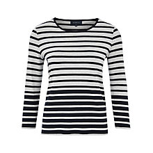 Buy Viyella Graduated Stripe Top, Navy Online at johnlewis.com