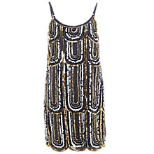 Buy Miss Selfridge 1920s Embellished Deco Dress, Navy Online at johnlewis.com