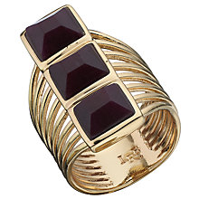 Buy Boutique by Lola Lainey Black Cherry Quartzite Ring, Gold/Black Online at johnlewis.com