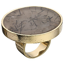Buy Boutique by Lola Rutilated Quartz Dorian Ring, Grey / Gold Online at johnlewis.com