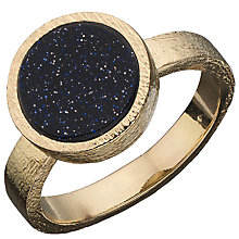 Buy Boutique by Lola Beckett Blue Sandstone Ring, Gold / Blue Online at johnlewis.com