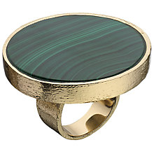 Buy Boutique by Lola Malachite Dorian Ring, Green / Rose Gold Online at johnlewis.com