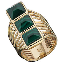 Buy Boutique by Lola Lainey Malachite Ring, Gold / Green Online at johnlewis.com
