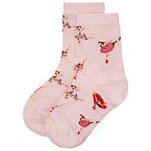 Buy Cath Kidston Girls' Ballerina Day Socks, Pink Online at johnlewis.com