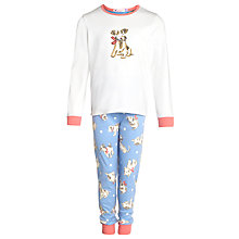 Buy John Lewis Girl Puppy Print Long Sleeve Pyjamas, Multi Online at johnlewis.com