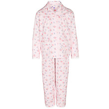 Buy John Lewis Girl Vintage Floral Pyjamas, Pink Online at johnlewis.com