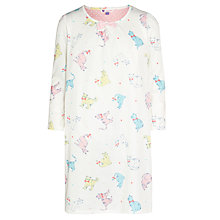 Buy John Lewis Girl Cats Nightdress, Cream Online at johnlewis.com