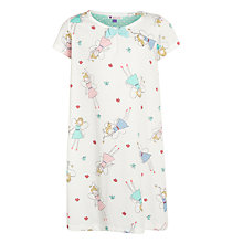 Buy John Lewis Girl Fairy Print Nightdress, White/Multi Online at johnlewis.com