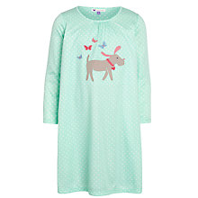 Buy John Lewis Girl Dog Appliqué Nightie, Green Online at johnlewis.com