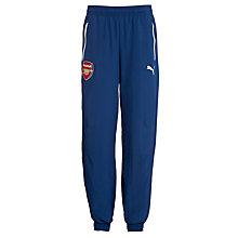 Buy Puma Junior Arsenal 2014/2015 Leisure Cuffed Training Trousers, Navy Online at johnlewis.com